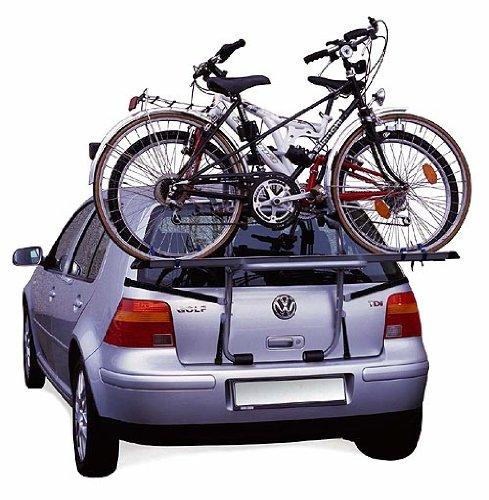 STEELBIKE portabici posteriore per 2 biciclette, fissaggio con cingh