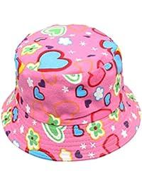 Fletion unisex bambino carino estate Colorful Patterns Sun Beach cappello  pesca cappello secchio tappo età 2 abf469280874
