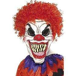 Smiffy's Scary Clown Mask with Hair (máscara/careta)