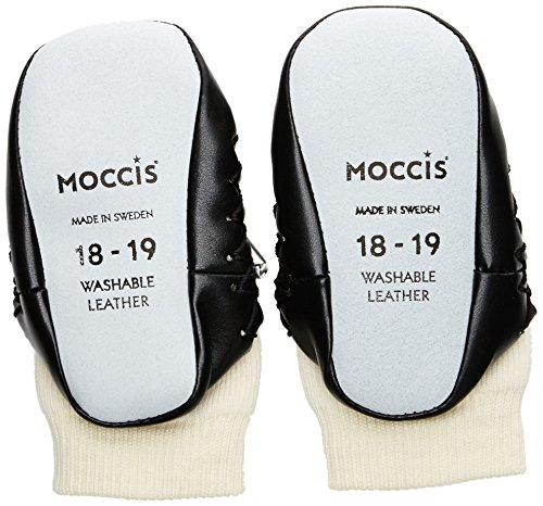 Moccis Take A Bow, Premiers pas Mocassins Mixte bébé Blanc (White/Black)
