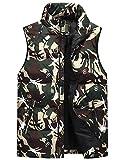Glestore Chaleco para Hombre Chaleco de Camuflaje Chaleco XS-XL Acolchado para Hombre Chaqueta sin mangas Rojo Negro Verde(Verde S)
