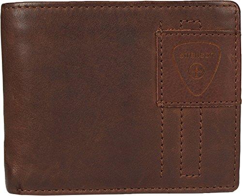 Strellson Upminster Porte-monnaie cuir 12 cm darkbrown