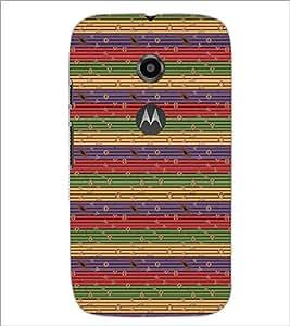 PrintDhaba Pattern D-5364 Back Case Cover for MOTOROLA MOTO E2 (Multi-Coloured)