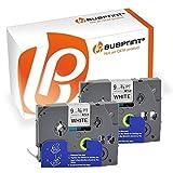 Bubprint 2 Schriftbänder kompatibel für Brother TZE-221 TZE 221 für P-Touch 1280 2430PC 2730VP 3600 9500PC 9700PC D400VP D600VP H100LB H105 P700 P750W