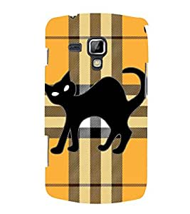 Cross Cat Kitty 3D Hard Polycarbonate Designer Back Case Cover for Samsung Galaxy S Duos S7562