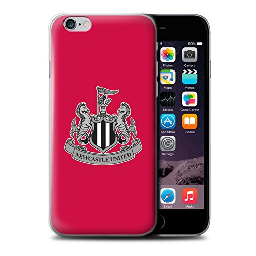 Officiel Newcastle United FC Coque / Etui pour Apple iPhone 6S / Mono/Blanc Design / NUFC Crête Football Collection Mono/Rouge