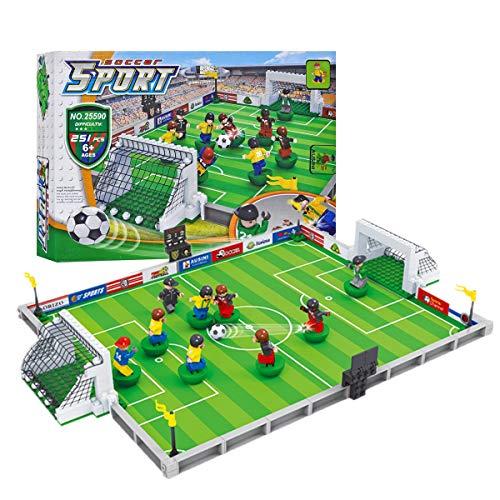 36dd3b58055f43 Yooap Football Game Building Blocks Set, Gioco di Calcio Giocabile City  Pitch, Educational Model