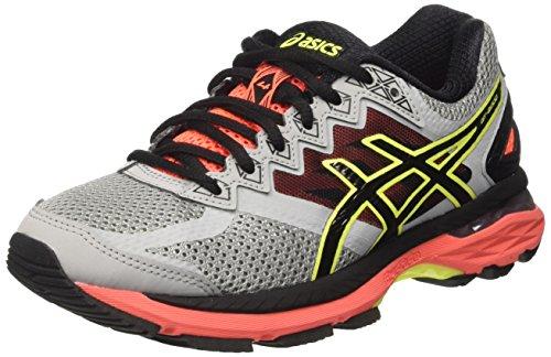 Asics Gt-2000 4, Zapatillas de Running para Mujer, Plateado (Midgrey/Black/Flash Coral), 37.5