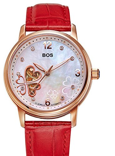 Angela BOS love clover hollow Damen automatic mechanical watch belt fashion lady Valentine Gift