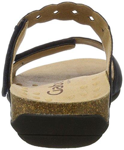 Gabor Damen Comfort Offene Sandalen mit Keilabsatz Blau (ocean 46)