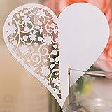 50 segnaposti a forma di cuore per matrimoni, in 3D, tagliati al laser, ideali come segnaposto, decorazione bicchiere di vino, biglietto per Natale, fidanzamento, compleanno, bomboniera per una nascita
