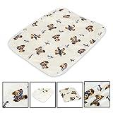 Letech® Fasciatoio per bambini e neonati, impermeabile, lavabile, tappetino per cambiare i pannolini riutilizzabile.