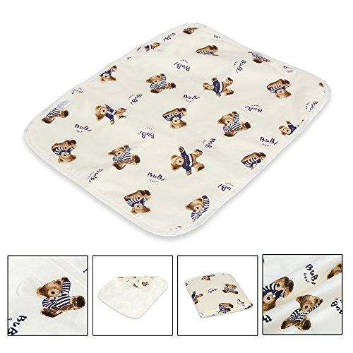 Letech® Wickelunterlage für Babys und Kleinkinder, wasserdicht, waschbar, wiederverwendbare Windel Matte Test