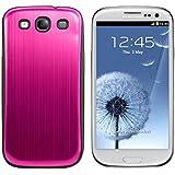 kwmobile Hardcase Hülle für > Samsung Galaxy S3 / S3 Neo < - Hartschale Backcover Case Schutzhülle aus gebürstetem Aluminium in Pink