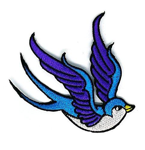 Blue Bird Cartoon bestickt Nähen Eisen auf Patch Cartoon Nähen Eisen auf bestickte Applikation Craft handgefertigt Baby Kid Girl Frauen Tücher DIY Kostüm Zubehör (Frauen Bird Kostüme)