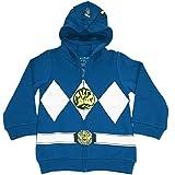 The Power Rangers costume con cappuccio e zip Big Boys I am Blue Large