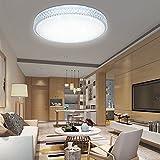 VGO® 60W LED Kristall Deckenleuchte Kaltweiß Starlight Eckig Deckenbeleuchtung Wohnzimmer Sternenhimmel Deckenlampe Korridor Schlafzimmer Schönes 6000K-6500K Mordern Badleuchte