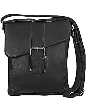 STILORD kleine Umhängetasche Herren Leder Vintage iPad Hülle 10,1 Zoll Tablettasche Schultertasche Messenger Bag...