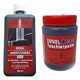 EOSOL Set Nr. 1 BLAU (500 ml Anreissfarbe blau und 250 ml Tuschierpaste blau)