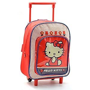 51JNq%2BGsfzL. SS300  - Hello Kitty AR641 - Mochila Carro Capacidad 28 x 12 x 22 cm Mochila Infantil 34 cm, Multicolor