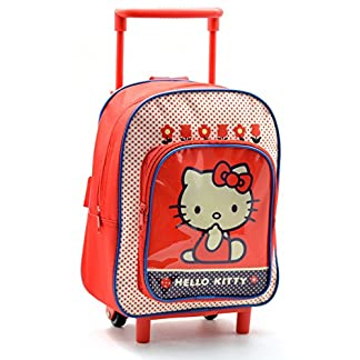 Hello Kitty AR641 – Mochila Carro Capacidad 28 x 12 x 22 cm Mochila Infantil 34 cm, Multicolor