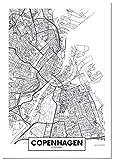 Panorama® Poster Karte von Kopenhagen 50 x 70 cm |