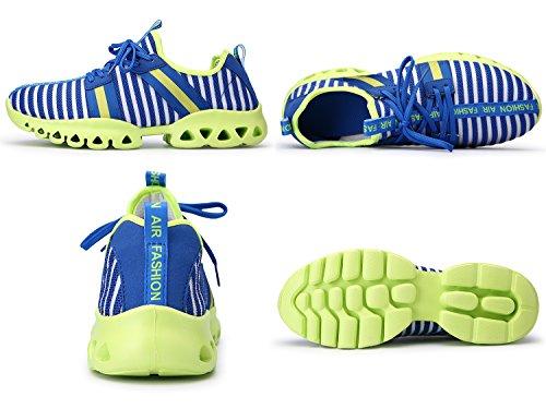 IIIIS-R Laufschuhe Herren Damen Leicht Wanderschuhe Gute Qualität Sneaker Blau