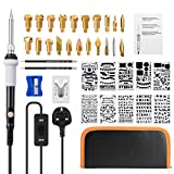 LIUMY 39 in 1 Wood Burning Kit, Wood Burning Tool with 10Pcs Stencils