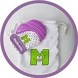 mouthie Mitten – fausthandschuh muffola kinderkrankheiten in silicone – vari colori – viola, dalla nascita – 12 mesi