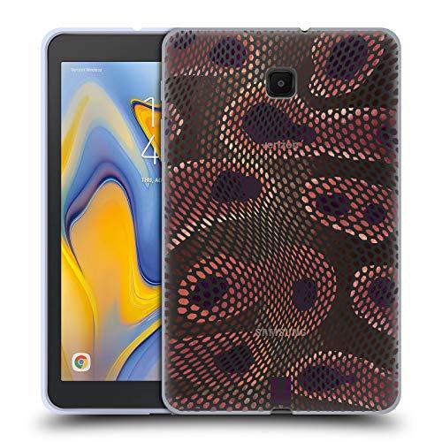 Schlange-haut-design (Head Case Designs Anaconda Schlangen Haut Soft Gel Huelle kompatibel mit Galaxy Tab A 8.0 (2018))