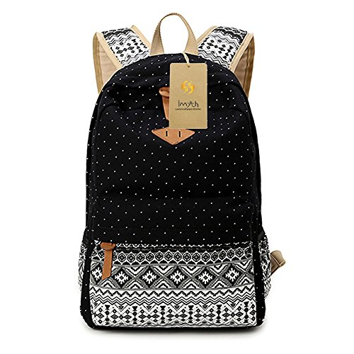 imyth-bohemia-cute-backpack-casual-school-bag-daypack-travel-bag-for-girls-black
