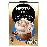 Nestle Nescafe Gold Cappuccino Decaf Unsweetened Taste 8 Mugs (120 g)