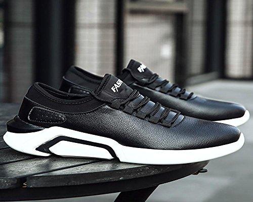 Mâles Automne Et Hiver Chaussure De Sport Imperméable Cuir Surface Jogging Ozio Chaussure Noire