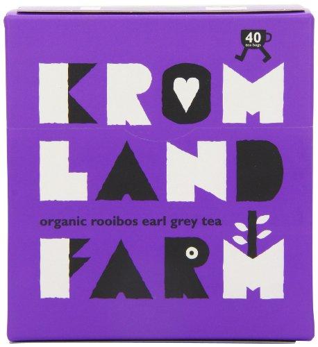Kromland Farm Organic Rooibos Earl Grey 40 Teabags (Pack of 6)