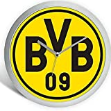 Borussia Dortmund Modische Wanduhr / Uhr / Wall Clock Ø 25 cm BVB 09 - plus gratis Aufkleber forever Dortmund