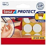 Tesa Protect Filzgleiter, rund, Ø22mm, weiß, 12 Stück