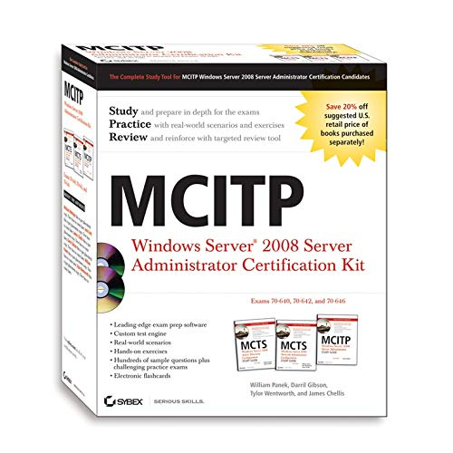 MCITP: Windows Server 2008 Server Administrator Certification Kit por James Chellis