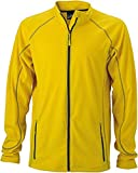 JN597 Men's Structure Fleece Jacket Leichte Outdoor-Fleecejacke, Größe:XL;Farbe:Yellow-Carbon