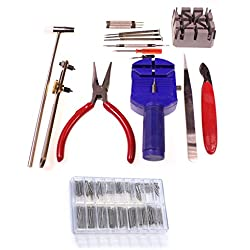 286 Piece Watch Repair Kit Set & Wrist Strap Adjust Pin Tool Kit Back Remover Fix With Double Spring Bars by KurtzyTM