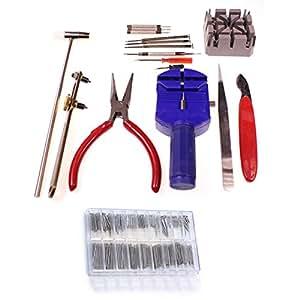 286-teiliges Uhren-Reparatur-Set mit Metall-Armband-Stift