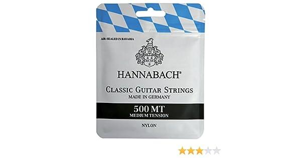 3 Sätze 500 HT Bavaria Konzertgitarre Hannabach 500 MT Gitarrensaiten