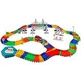 Macchinine Pista di Auto Racing Game con 1 Pista Macchinine Cars192 Pezzi per Bambini
