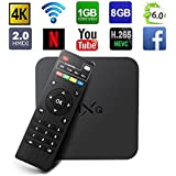 Globmall MXQ Android 6.0 TV Box Amlogic Quad Core 1GB/8GB True 4K Smart TV WiFi Reproductor Multimedia