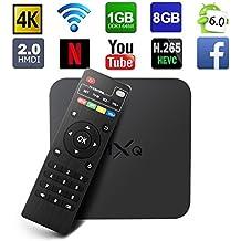 Globmall MXQ Android 6.0 TV Box Amlogic Quad Core 1GB/8GB True 4K Smart TV WiFi Reproductor Multimedia