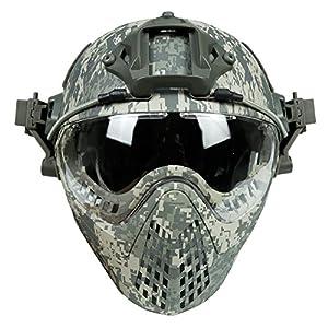 Rapide Un Plein Visage Baotou Casque en Plein Air Masque Masque Pistolet À Air Paintball Oreille Protecteur Lunettes
