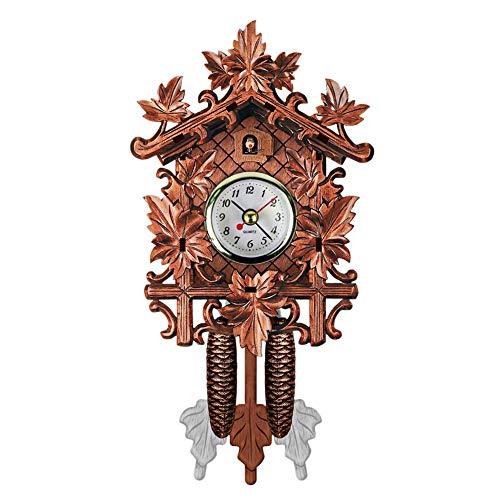 QZY Kuckuck Wanduhr Vogel Wecker Holz Hängende Uhr Zeit Für Home Restaurant Einhorn Dekoration Kunst Vintage Swing Wohnzimmer,A