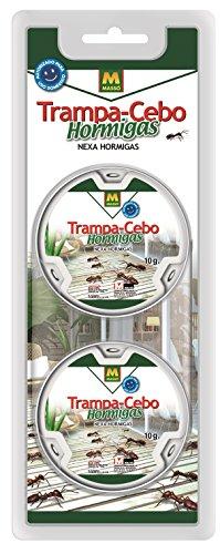 MASSÓ 231192N Trampa Cebo Hormigas, Blanco, 12x26x2 cm
