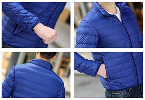 Quibine Homme Doudoune Léger Manteau Zipper Jacket Chaud D'hiver Saphir