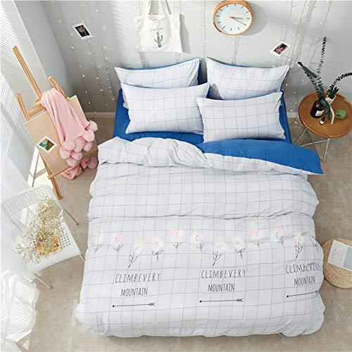 UOUL Bettwäscheset aus gewaschener Baumwolle 4-teiliges atmungsaktives Komfort-Plaid Geeignet für Teenager Kinderzimmer Twin,Lattice,California King -