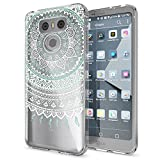 LG G6 Hülle Handyhülle von NALIA, Slim Silikon Motiv Case Cover Crystal Schutzhülle Dünn Durchsichtig, Etui Handy-Tasche Backcover Transparent Bumper für G-6 Smart-Phone, Designs:Mandala Blau Türkis